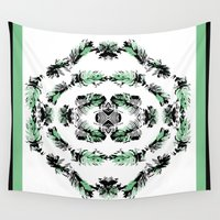 palms Wall Tapestries featuring Palms by Sierra Neale