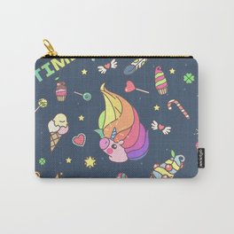 "Vector pattern series of ""Unicorns time"". Art for kids. Carry-All Pouch"