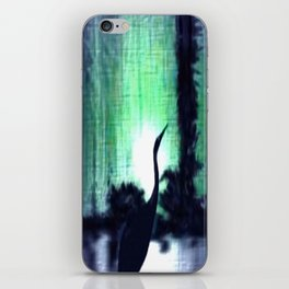 Lonely heron. iPhone Skin