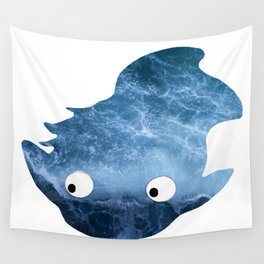 Ponyo Silhouette Wall Tapestry