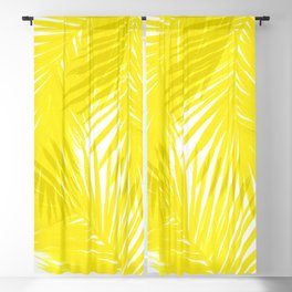 Palms Yellow Blackout Curtain