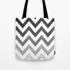 BLACK/GRAY OMBRÉ CHEVRON Tote Bag