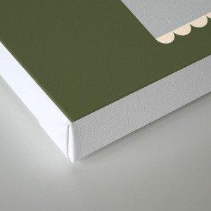 Letter R // Animal Alphabet // Rhino Monogram Canvas Print