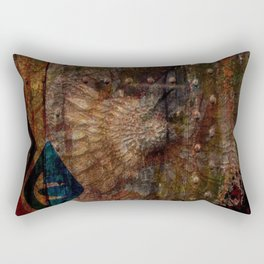 Rustic Textured Abstract Painting Rectangular Pillow