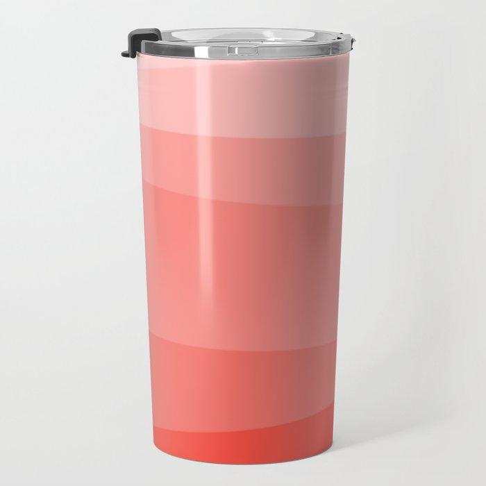 Diagonal Living Coral Gradient Travel Mug