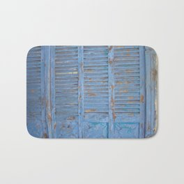 Rustic turquoise doors Bath Mat