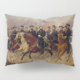 Grant and His Generals Painting Pillow Sham
