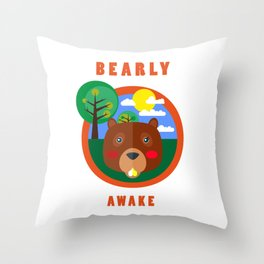 BEAR IN THE FOREST Throw Pillow