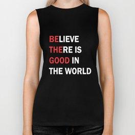 Be The Good In The World Yoga Ohm Peace Love Black Basic Yoga T-Shirts Biker Tank