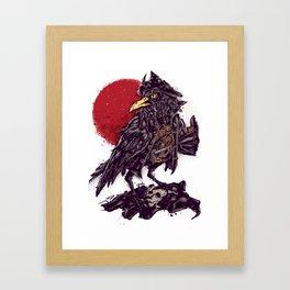 Black Bi(ea)rd Framed Art Print