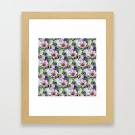 Delicate Pastel Cosmos Melody Framed Art Print