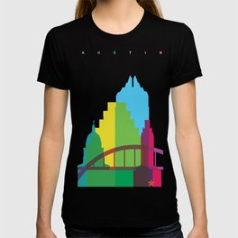 Shapes of Austin. Accurate to scale. T-shirt