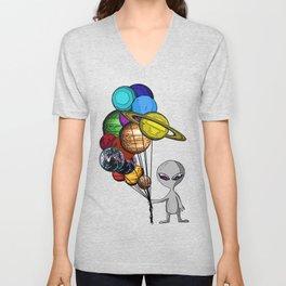 Casual Alien Unisex V-Neck