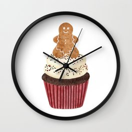 Gingerbread man Cupcake Wall Clock