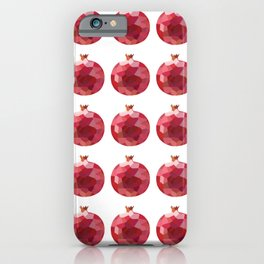pomgranate pattern grid, fill, repeating, tiled | elegant iPhone Case