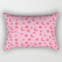 Cosmis space in pinky red Rectangular Pillow