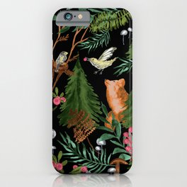 Winter Forest Animals iPhone Case