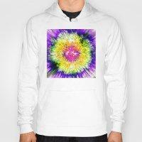 tie dye Hoodies featuring Textured Retro Tie Dye by Phil Perkins