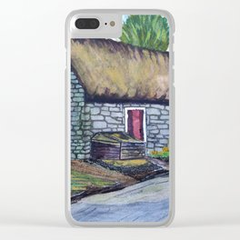 Thatch Cottage Clear iPhone Case