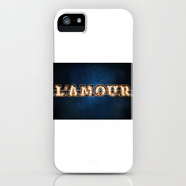 L'Amour - Wall-Art for Hotel-Rooms iPhone Case