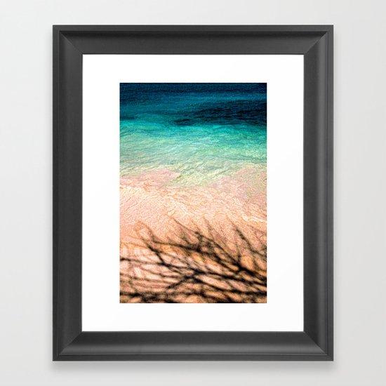 SEA AND TREE Framed Art Print