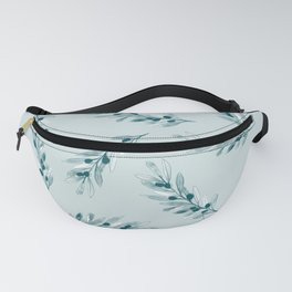 Olive branch pattern in blue Fanny Pack
