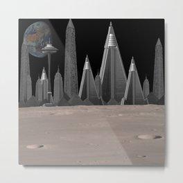 Alien City Metal Print