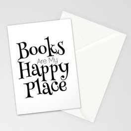 Books Are My Happy Place Stationery Cards