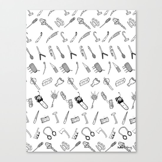 JUST THE WEAPONS Canvas Print