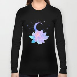 moon lotus flower Long Sleeve T-shirt
