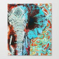 Indian Sketch Elephant Canvas Print