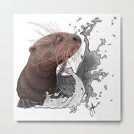 Cujo giant river otter Metal Print