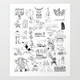 Inktober 2017 Art Print