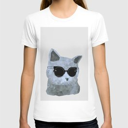 Low poly hipster british cat T-shirt
