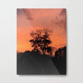 Treee on Fire Metal Print