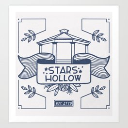 Stars Hollow Tourism Committee Art Print