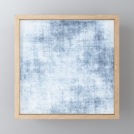 Faded Blue Jeans Framed Mini Art Print