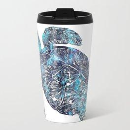 Sea Turtle Blue Watercolor Art Travel Mug