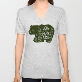 Join the Park Side Bear Unisex V-Neck