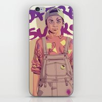 90s iPhone & iPod Skins featuring 80/90s - A. by Mike Wrobel