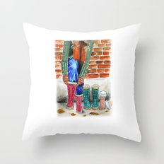 Autumn shoes Throw Pillow