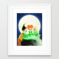 hocus pocus Framed Art Prints featuring Hocus Pocus by Angela Vasquez