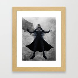 Sephiroth - One Winged Angel Framed Art Print