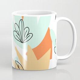 Terra Cotta and Teal Geometry Coffee Mug
