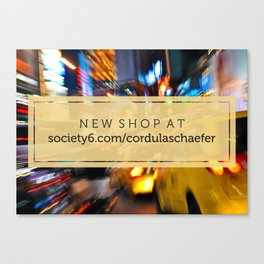 New shop! Canvas Print