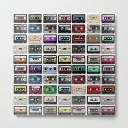 Cassette Tape Wall Metal Print