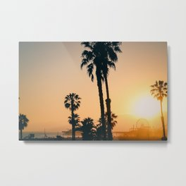California Dreaming; Summer Beachside Sunset Metal Print