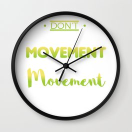 Awesome and Cool Parkour Tshirt Design Movement Wall Clock