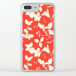 Drawings from Stonecrop Garden, Pattern in Red Clear iPhone Case