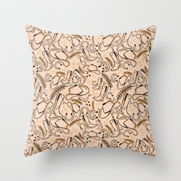 Cowboy Surface Pattern Throw Pillow